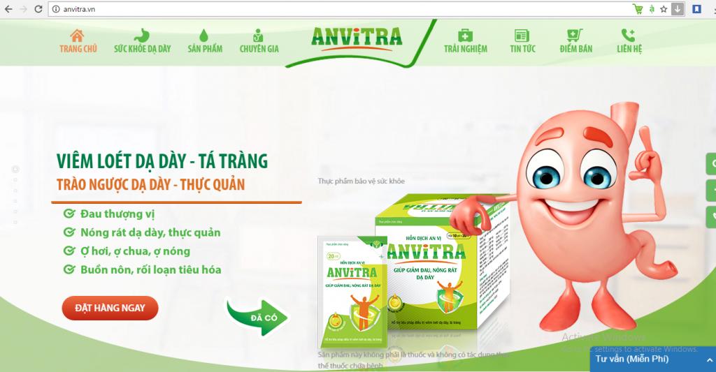 Photo Thiết kế Website tối ưu giúp tăng doanh thu sản phẩm Anvitra của Anvy Group 2