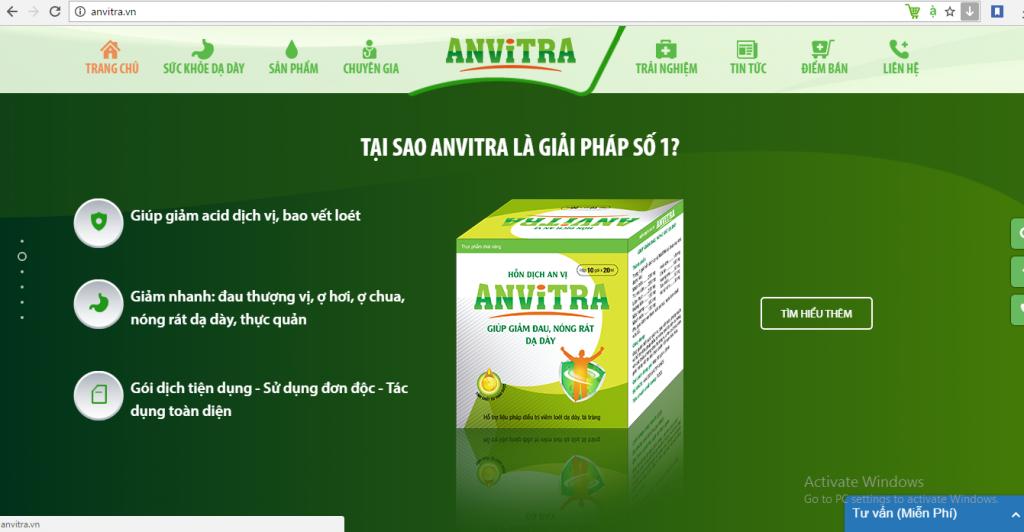 Photo Thiết kế Website tối ưu giúp tăng doanh thu sản phẩm Anvitra của Anvy Group 4