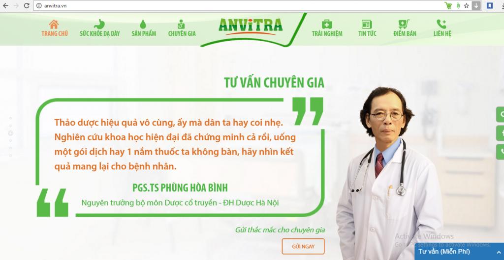 Photo Thiết kế Website tối ưu giúp tăng doanh thu sản phẩm Anvitra của Anvy Group 3