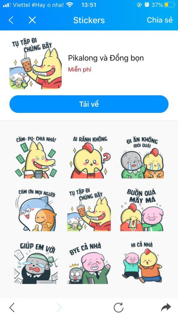Photo Bộ sưu tập Sticker Zalo vui nhộn 3
