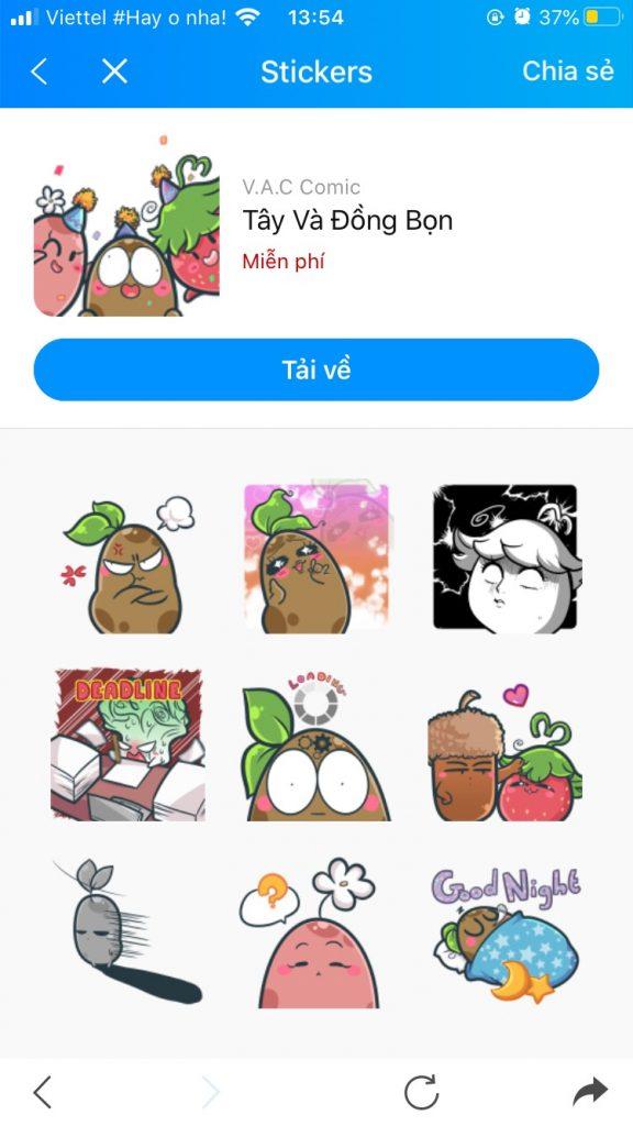 Photo Bộ sưu tập Sticker Zalo vui nhộn 14