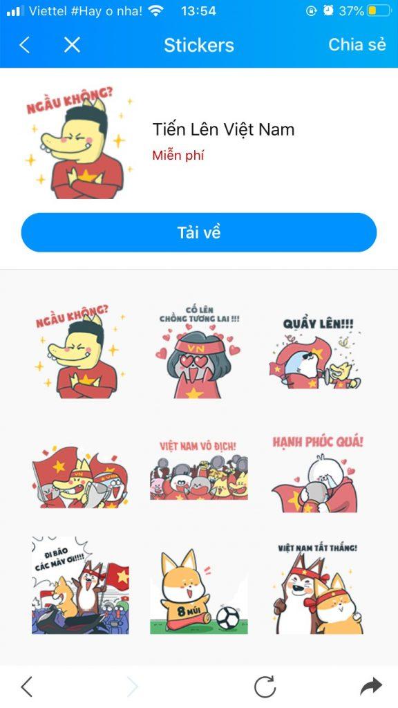 Photo Bộ sưu tập Sticker Zalo vui nhộn 12