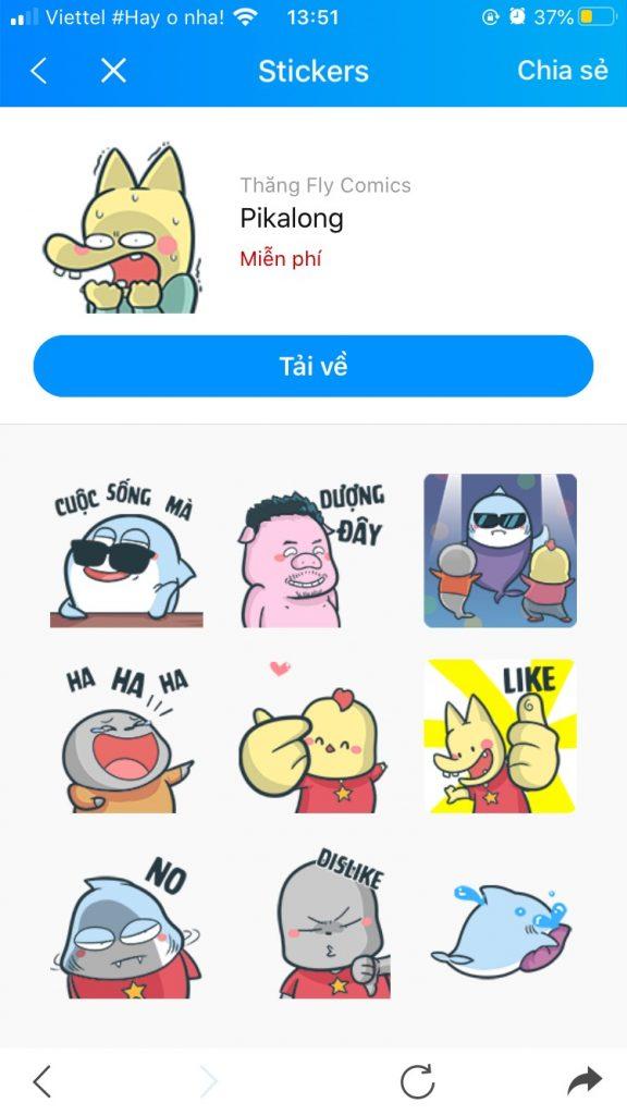Photo Bộ sưu tập Sticker Zalo vui nhộn 4