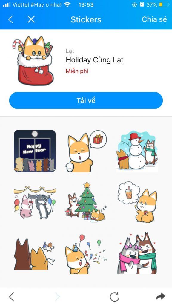 Photo Bộ sưu tập Sticker Zalo vui nhộn 6