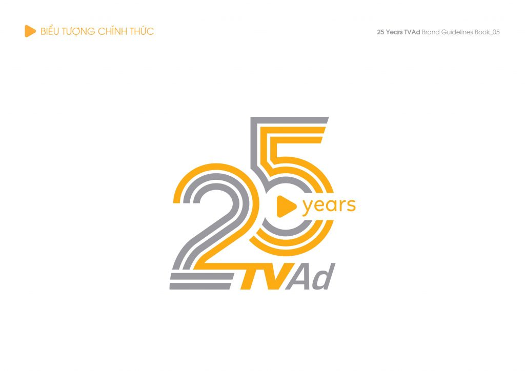 Photo Thiết kế logo biểu tượng kỷ niệm 25 năm TVAd 1