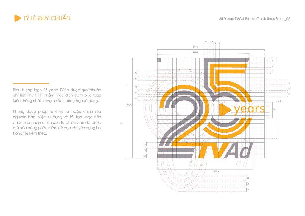 Photo Thiết kế logo biểu tượng kỷ niệm 25 năm TVAd 4