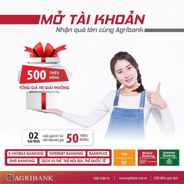 Photo MỞ TÀI KHOẢN - NHẬN QUÀ LỚN CÙNG AGRIBANK 10