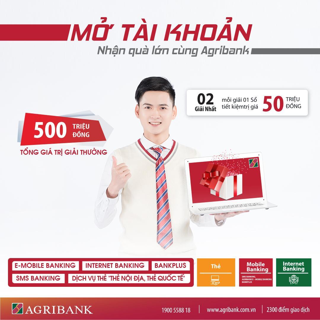 Photo MỞ TÀI KHOẢN - NHẬN QUÀ LỚN CÙNG AGRIBANK 11